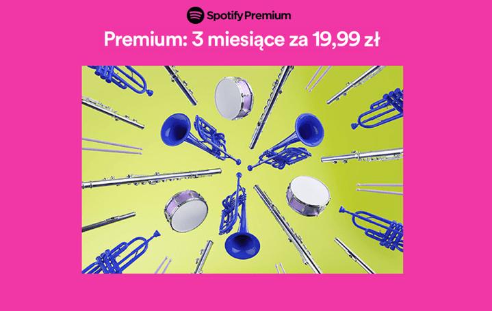 Promocja Spotify Premium 3 miesiące za 19,99 zł dla powracających