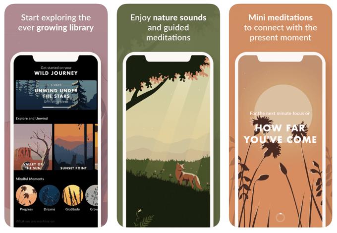 Aplikacja mobilna Wild Journey (screeny)