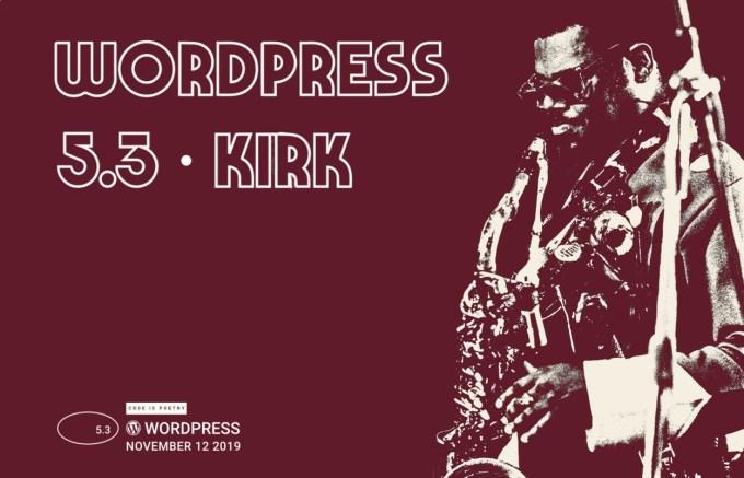 WordPress 5.3 Kirk – Rahsaan Roland Kirk grający na saksofonie na czerwonym tle