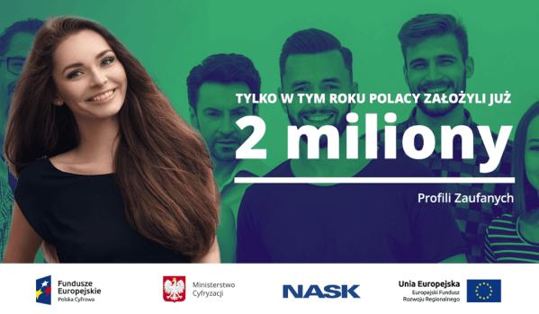 Polacy założyli aż 2 mln profili zaufanych w 2019 roku