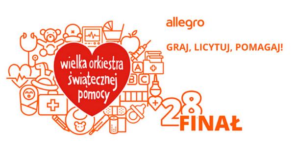 Aukcje 28. finału WOŚP ❤️ już grają na Allegro