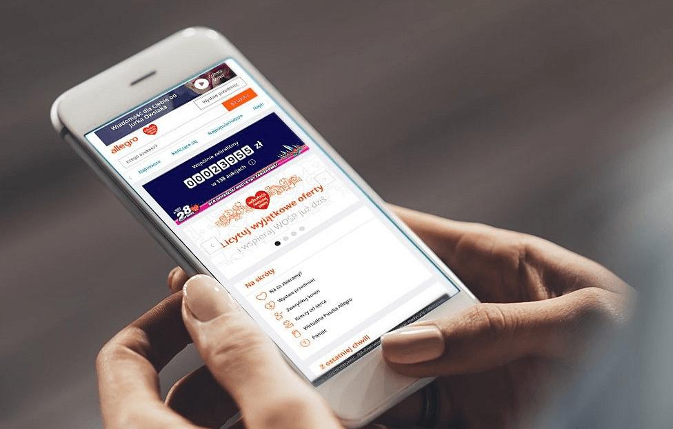 28. Finał WOŚP w aplikacji mobilnej Allegro!