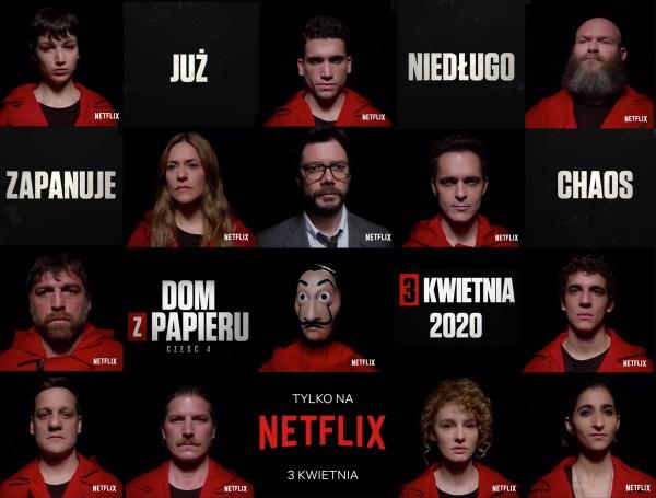"""4. część serialu """"Dom z papieru"""" już 3 kwietnia 2020 r."""