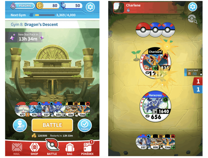 "Zrzut ekranu z gry ""Pokémon Tower Battle"""