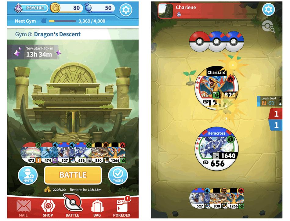"""Zrzut ekranu z gry """"Pokémon Tower Battle"""""""