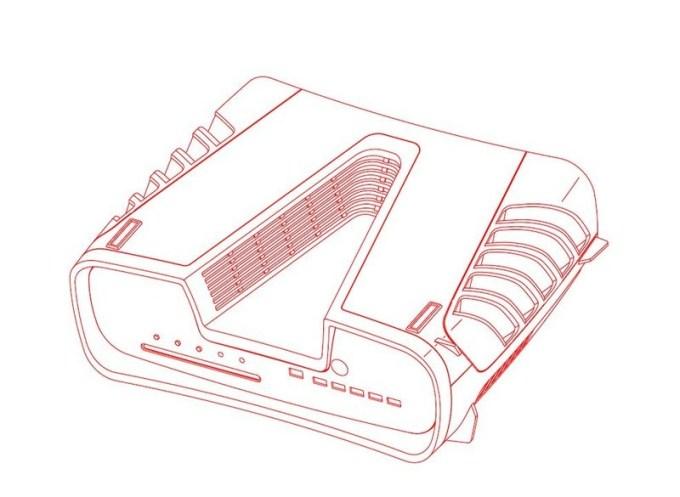 Szkic projektu PS5 (wersja devkit)