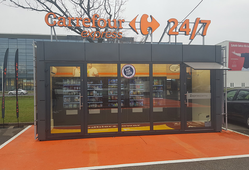 Sklep w pełni samoobsługowy Carrefour Express w Warszawie