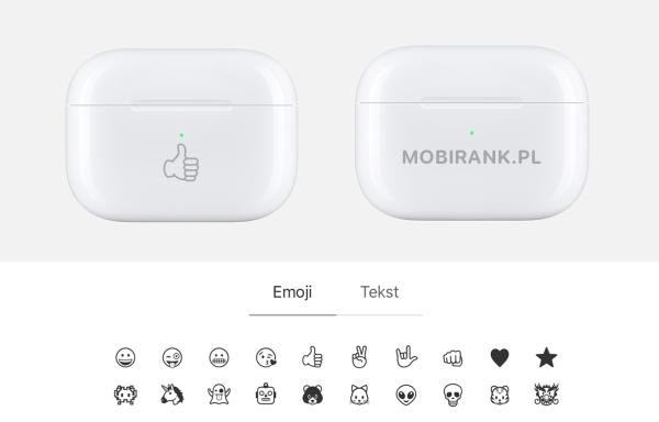 Teraz słuchawki AirPods z grawerowanym emoji na etui