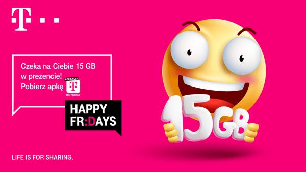 Happy Fridays: Odbierz 15 GB w aplikacji T-Mobile