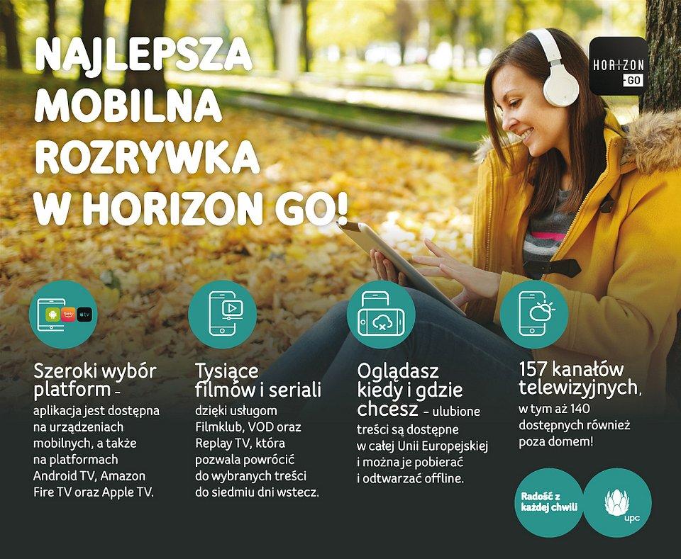 Nowe kanały w aplikacji Horizon GO od UPC