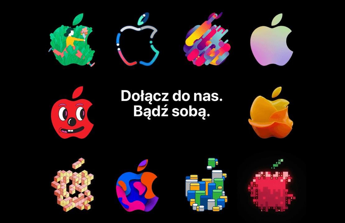 Praca w Apple - zrzut ekranu z podstrony ofert pracy