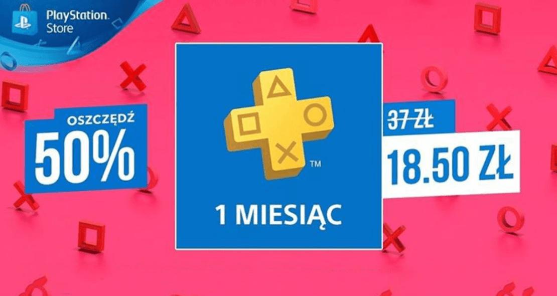 PlayStation®Plus: miesięczne członkostwo - 50% taniej