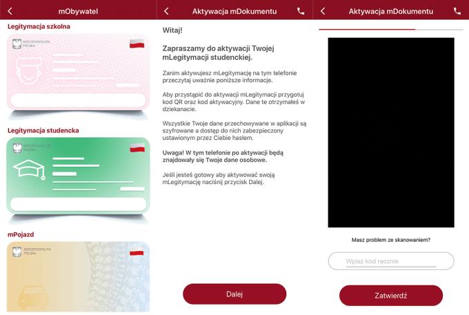 Aktywacja mLegitymacji pod systemem iOS (iPhone)