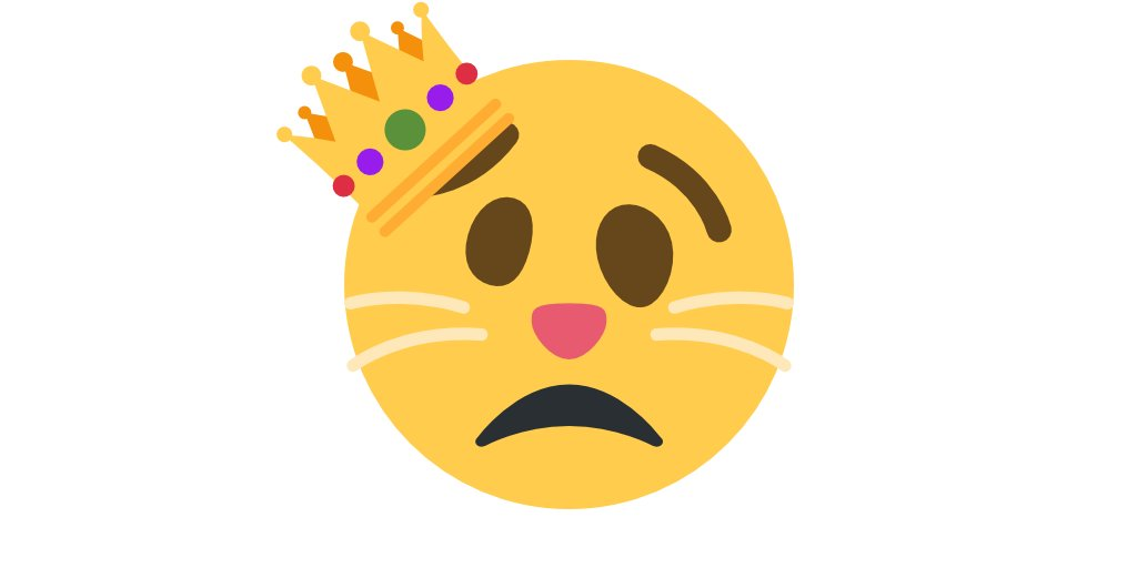 😾 dąs (kotek) + 🥴 zdezorietowana twarz + 👑 korona