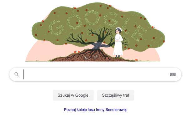 [Google Doodle] 110.rocznica urodzin Ireny Sendlerowej