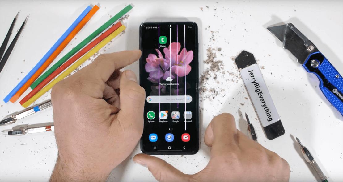 JerryRigEverything testuje Galaxy Z Flip