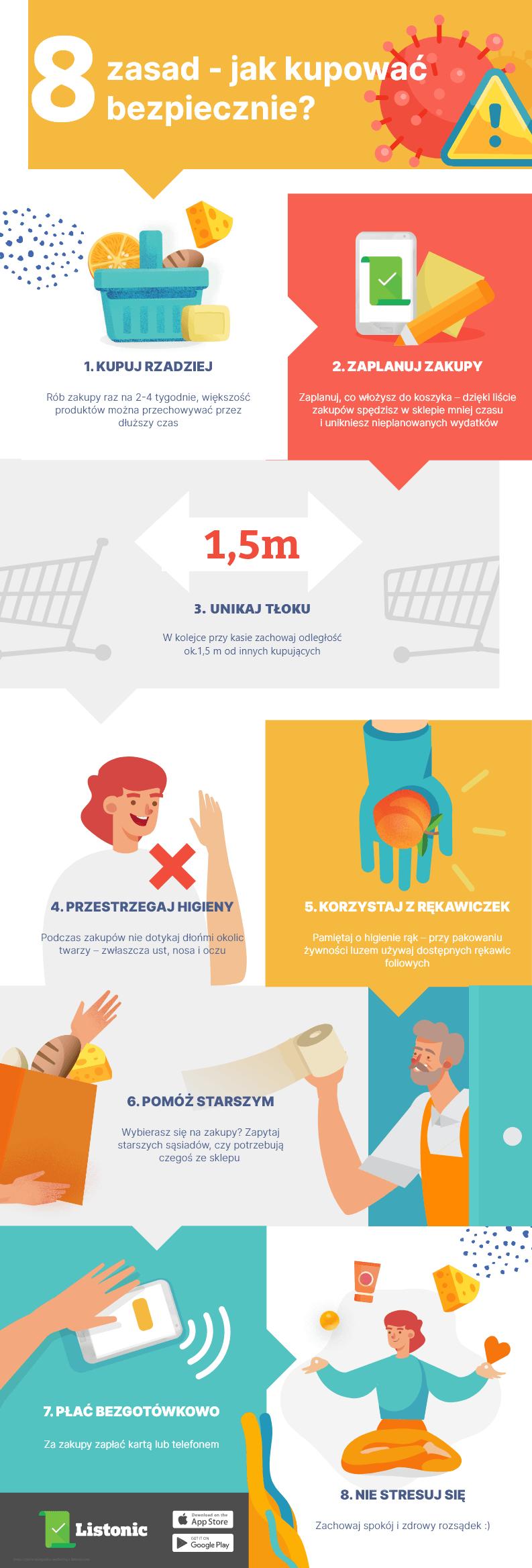 Infografika: 8 zasad jak kupować bezpiecznie?
