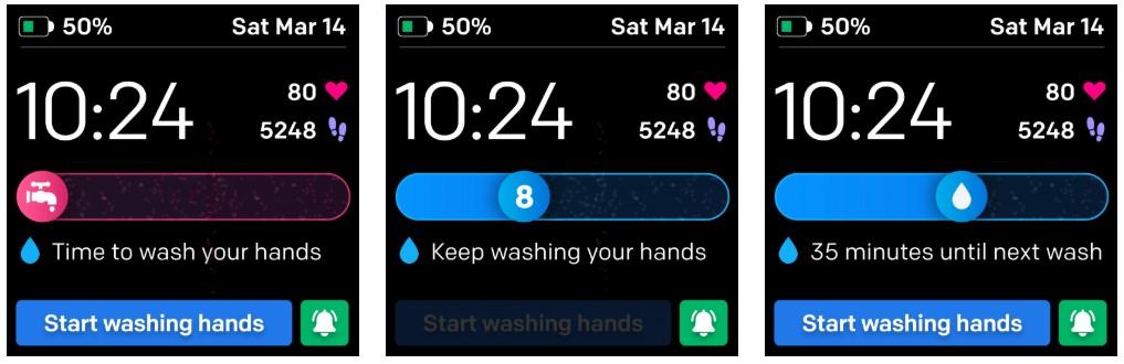 Alert Fitbit: mycie rak