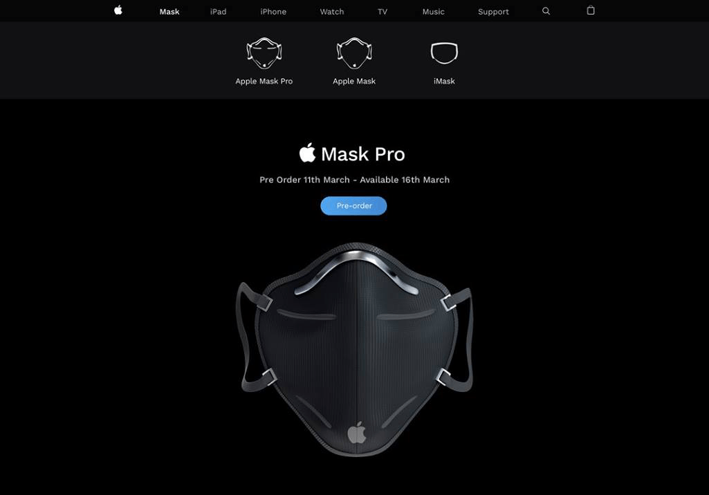 Apple Mask Pro (czarna wersja)