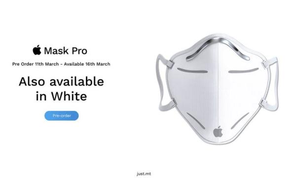 """Koncepcja Apple Mask Pro """"przeciwdziała"""" objawom śmiechu"""