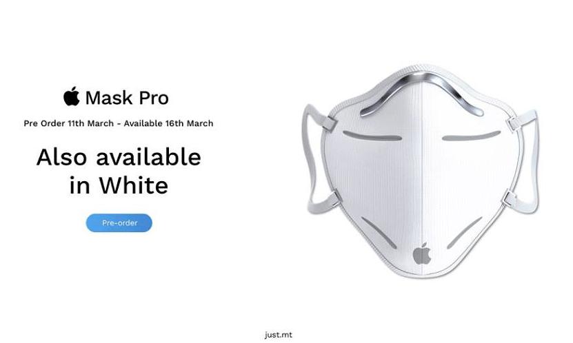 Apple Mask Pro – biała wersja