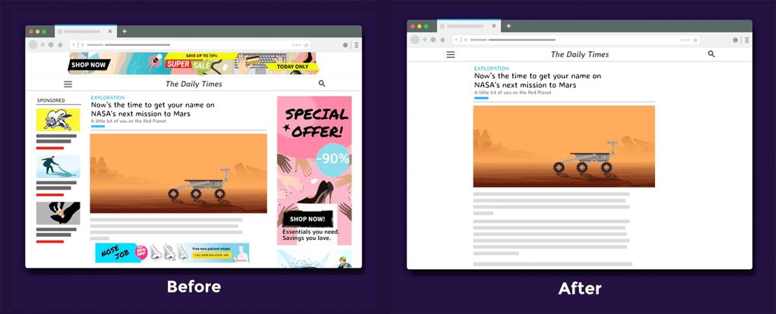 Firefox Better Web with Scroll (przed i po)
