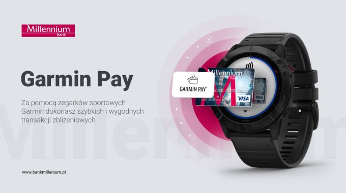 Płatności Garmin Pay w Banku Millennium