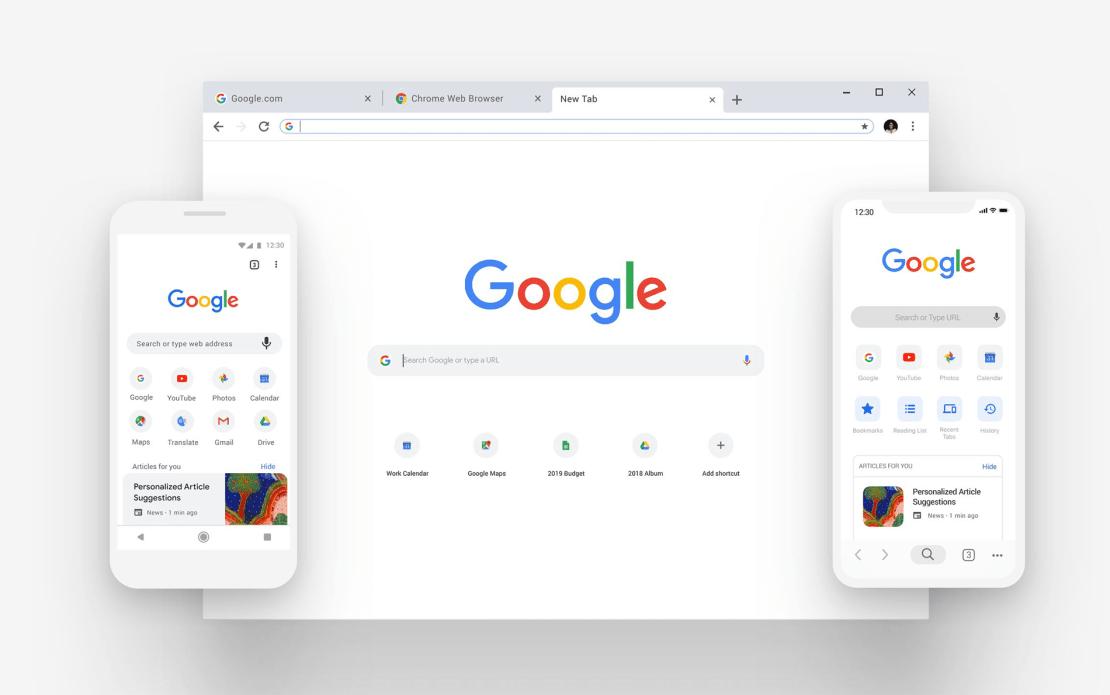 Nowe formanty w przeglądarce internetowej Chrome