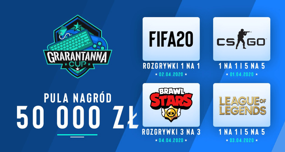 Grarantanna CUP – turnieje gamingowe od 1 kwietnia 2020 r.