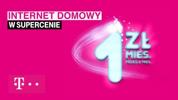 Internet domowy od T-Mobile przez 2 miesiące za 1 zł