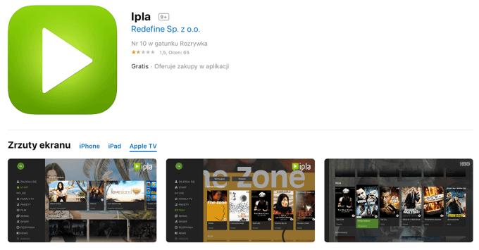 IPLA na Apple TV w sklepie App Store