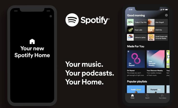Nowy ekran główny w aplikacji mobilnej Spotify