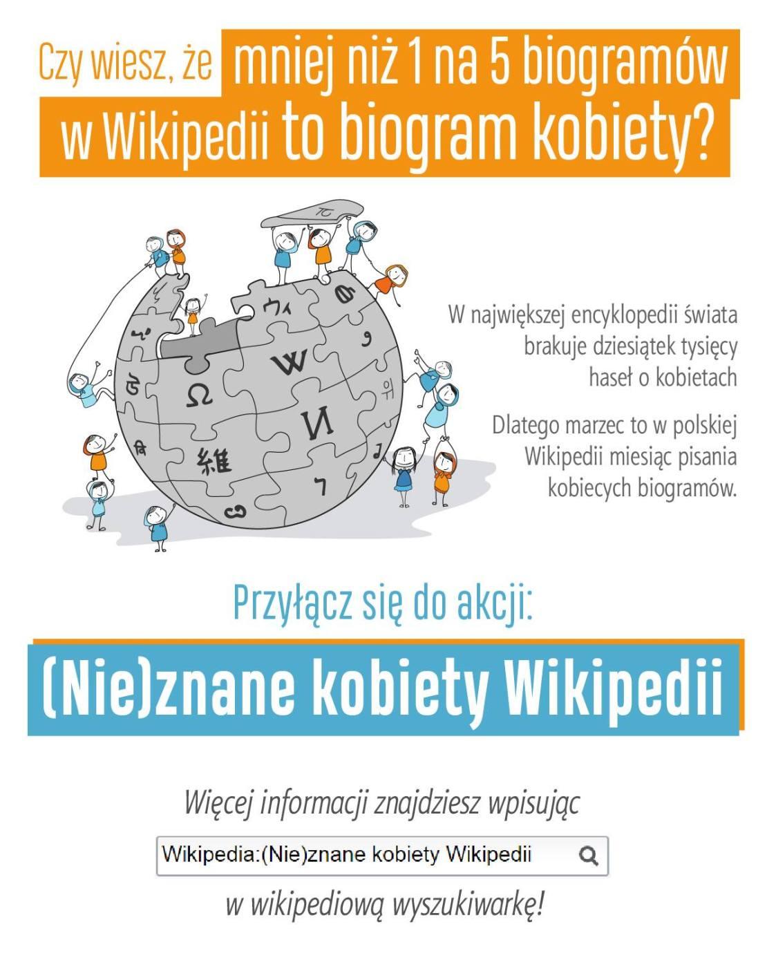 Oryginalna grafika konkursowa: (Nie) znane kobiety Wikipedii 2020