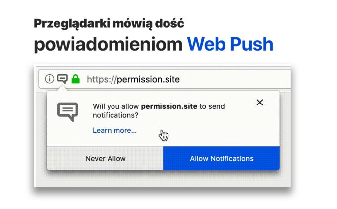 Powiadomienia Push w przeglądarkach ograniczone