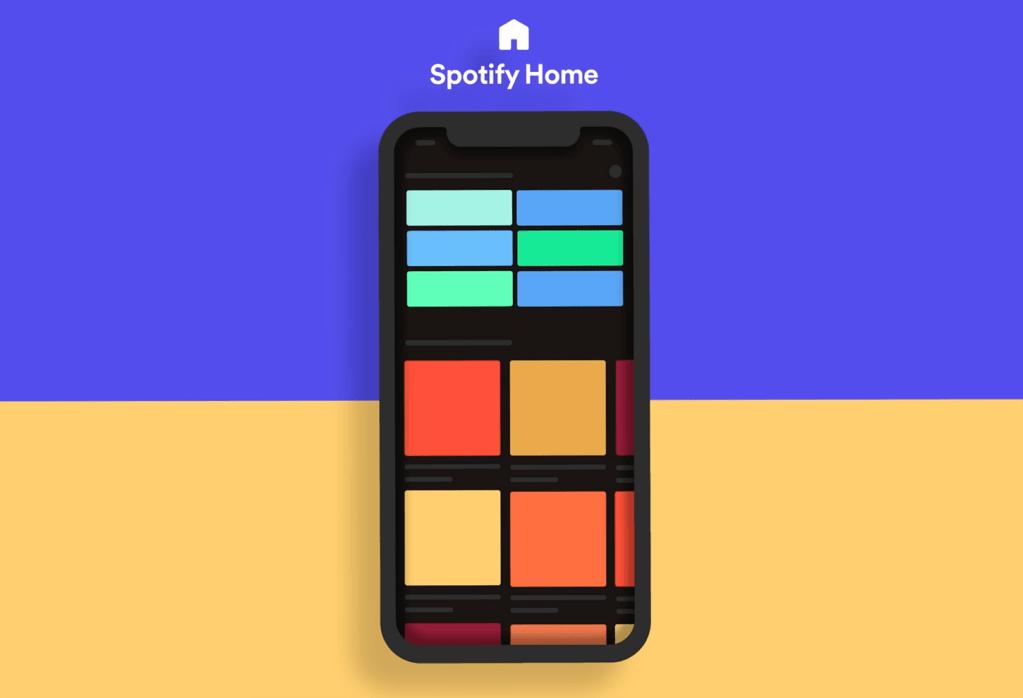Przeprojektowany ekran główny aplikacji Spotify