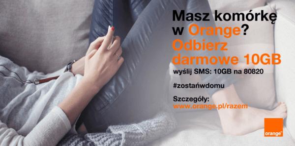Orange ponownie daje 10 GB internetu i więcej TV za darmo