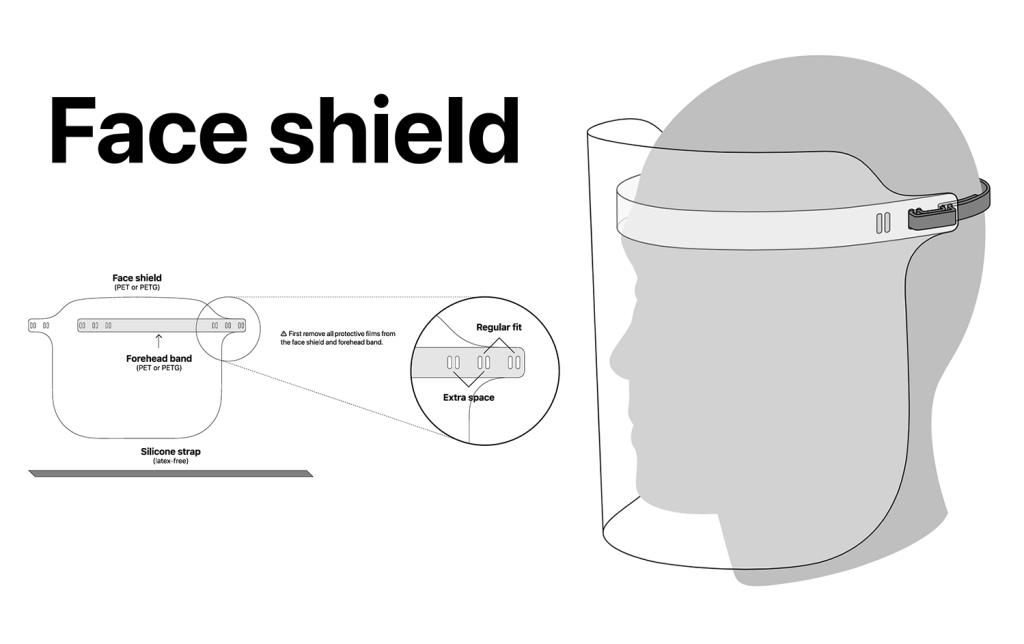 Apple Face Shield - instrukcja i pliki projektowe
