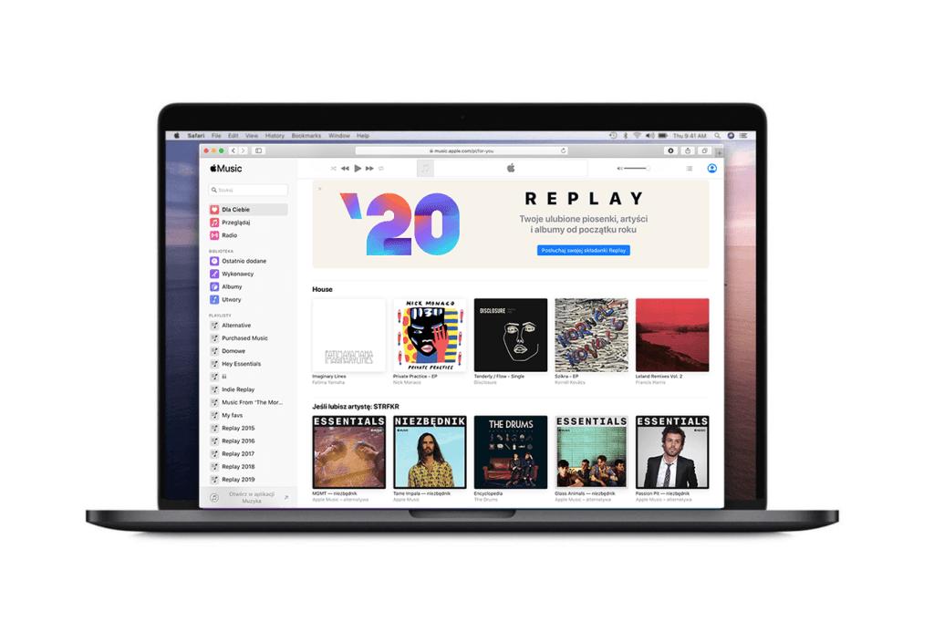 Apple Music działa już oficjalnie w przeglądarce internetowej.
