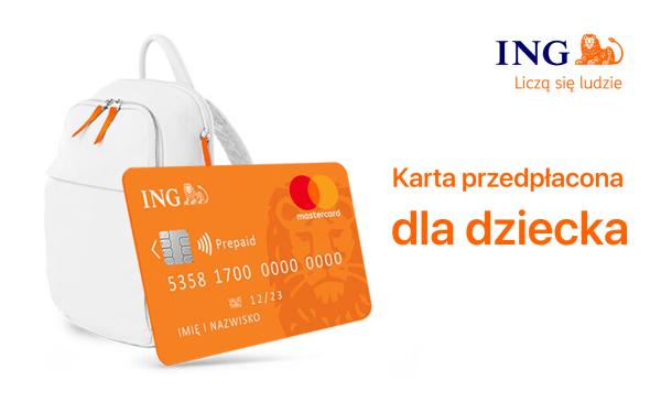 Karta przedpłacona dla dzieci w wieku poniżej 13 lat w ING