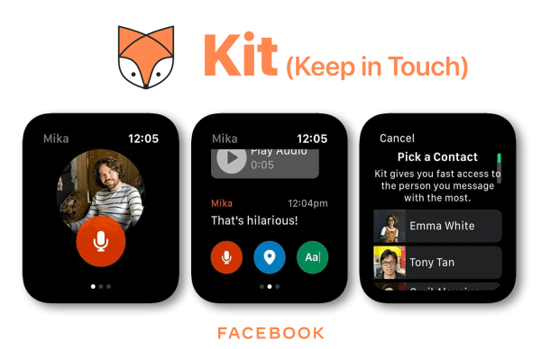 Kit (Keep in Touch) – eksperymentalna appka Facebooka na Apple Watcha