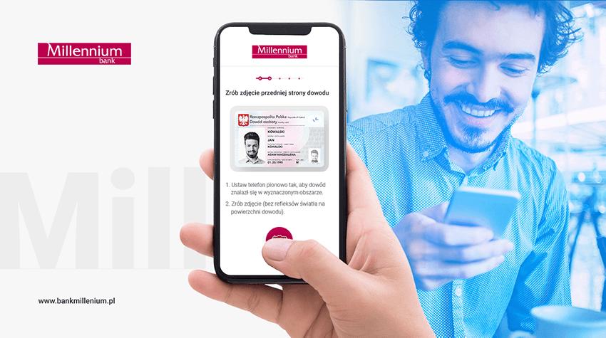 Otwarcie konta za pomocą selfie w Banku Millennium