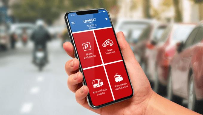 Aplikacja mobilne moBILET - parkowanie w Warszawie