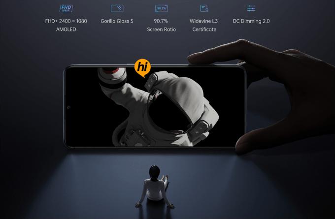 Ekran smartfona OPPO A91
