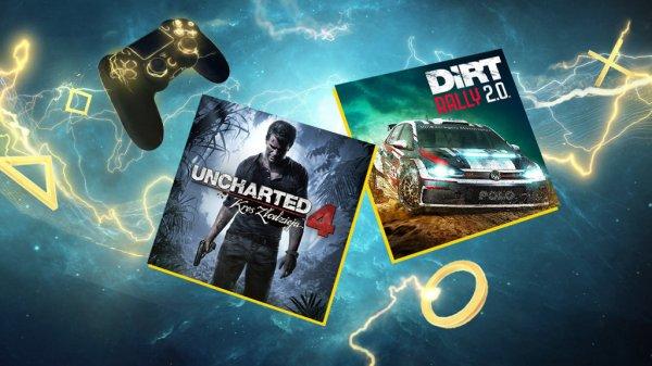 """""""Uncharted 4"""" i """"DIRT Rally 2.0"""" w kwietniu za darmo dla członków PS Plus"""