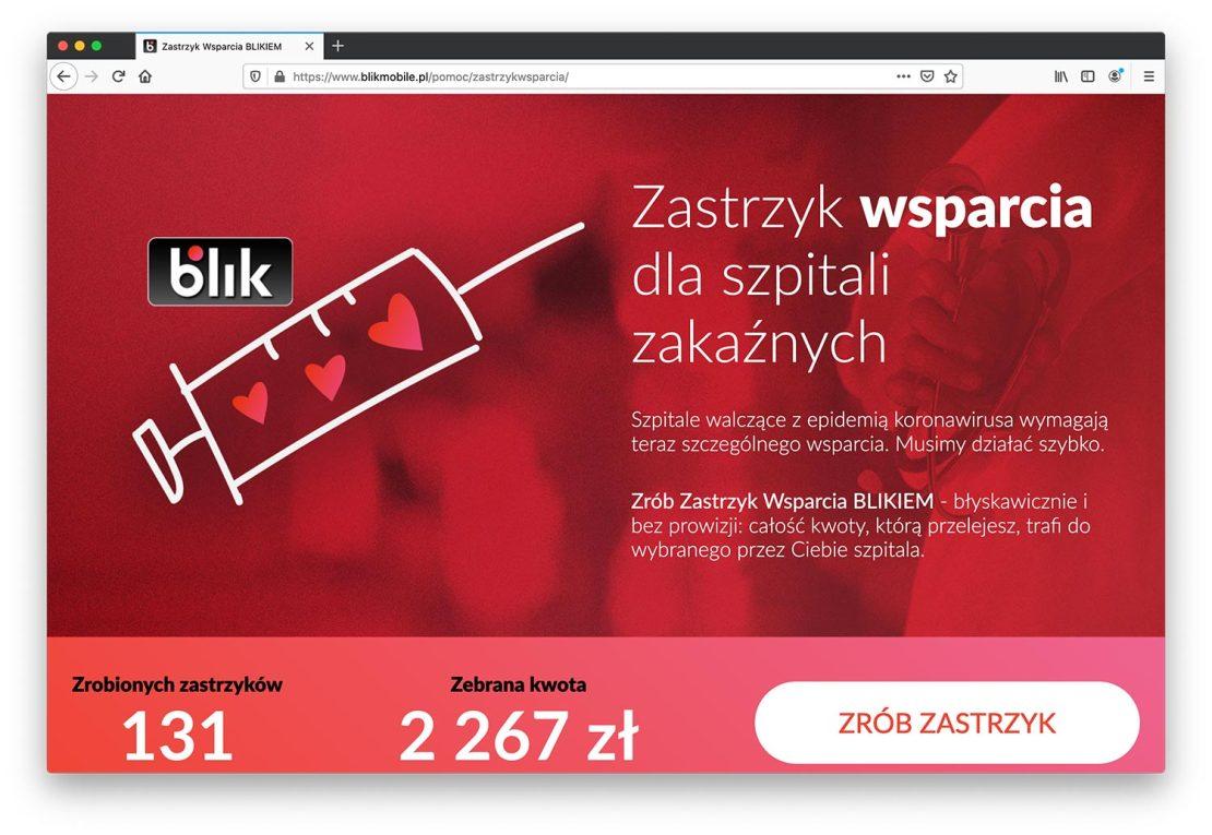 """Strona internetowa akcji """"Zastrzyk Wsparcia"""""""