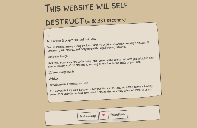 ThisWebsiteWillSelfdestruct (dot) com