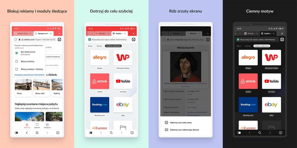 Przeglądarka mobilna Vivaldi na Androida