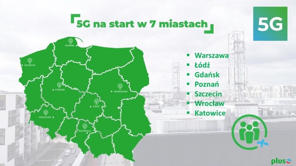 5G w Plusie od 11 maja 2020 roku w 7 miastach w Polsce