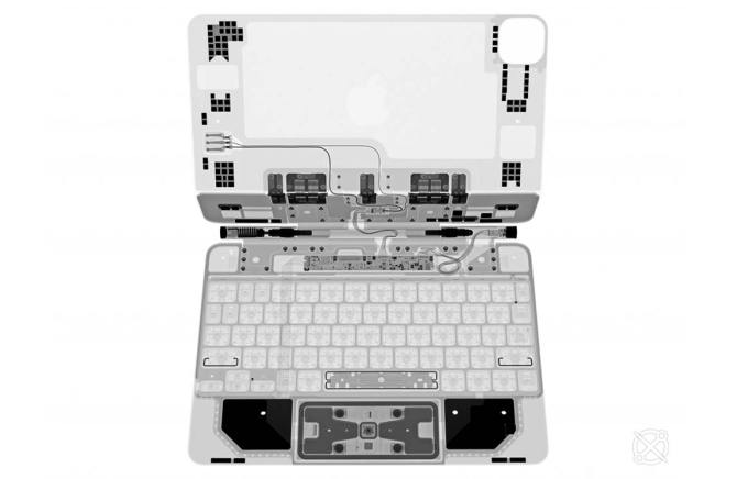Klawiatura Magic Keyboard na prześwietleniu