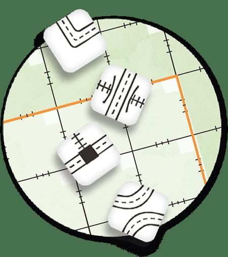 Nowe kości w grze Railroad Ink Challenge